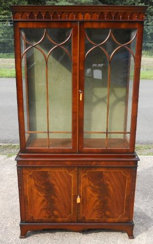 Mahogany China Display Cabinet in the Georgian Style